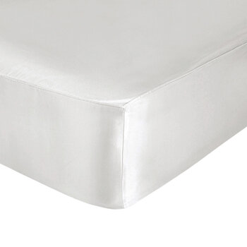 Pure Silk Fitted Sheet - Oyster