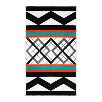 Geo Stripe Beach Towel