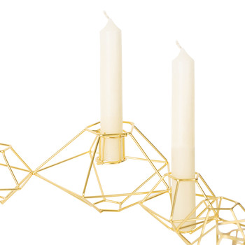 Pernille Candle Holder - Shiny Brass