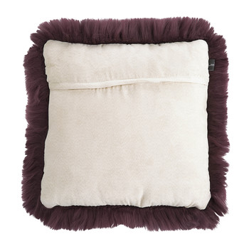 New Zealand Sheepskin Pillow - 50x50cm - Aubergine