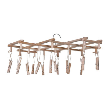 Clothes Peg Dryer - Beech