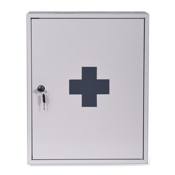 First Aid Wall Cabinet - Chalk