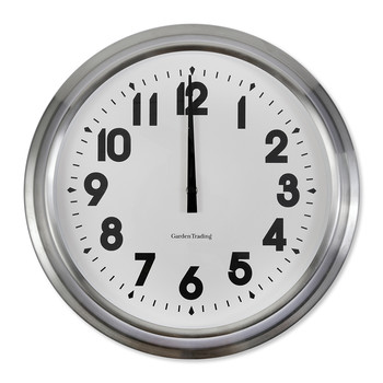 Islington Medium Clock - Stainless Steel