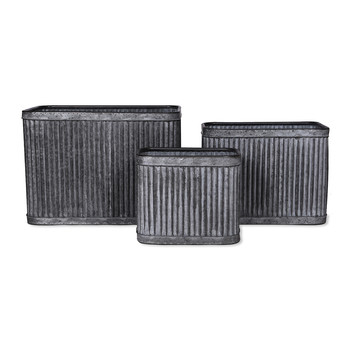 Rectangular Vence Planters - Set of 3
