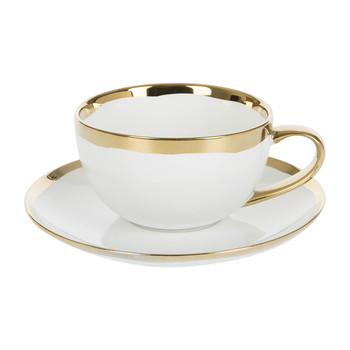 Dauville Cup & Saucer - Gold