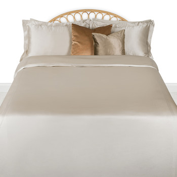 Aura Silk Duvet Set - Super King - Smoke