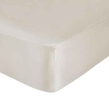Aura Silk Fitted Sheet - Super King - Smoke