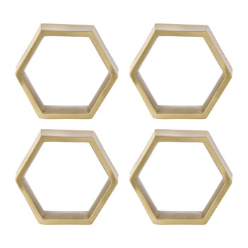Hexagon Napkin Rings - Set of 4
