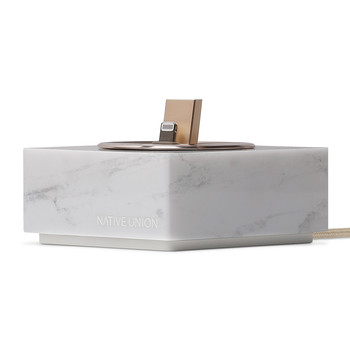Marble iPhone Dock - White
