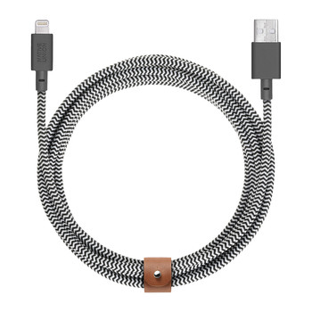 Ultra Lightning Belt Cable - Zebra
