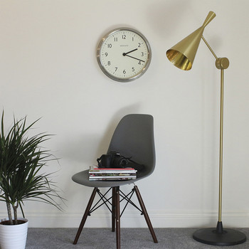 The Spy Clock - Brushed Steel