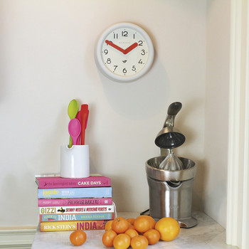 Pantry Clock - Pebble White