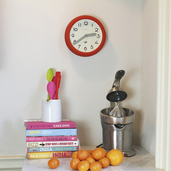 Pantry Clock - Fire Engine Red