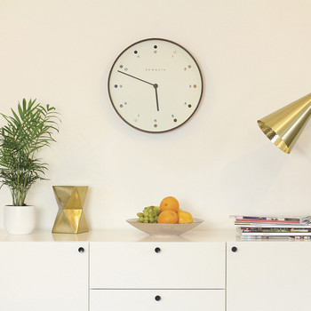 Mr Clarke Clock - Dark Plywood