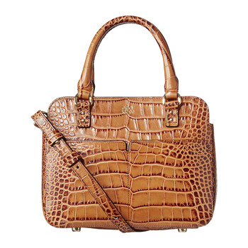 Jeanette Bag - Scallop Pocket Leather - Croc