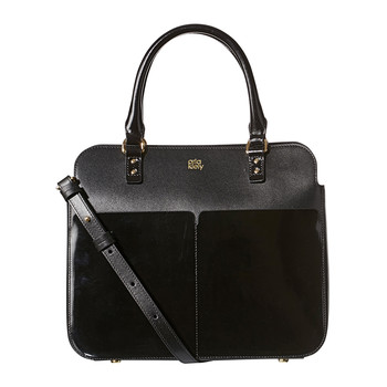 Jeanie Bag - Scallop Pocket Leather - Black