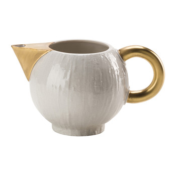 Creamer - 300ml - White & Antique Gold