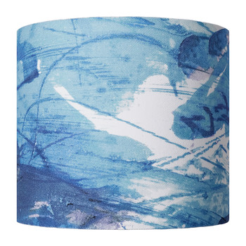 Blue Sedum Detail Lamp Shade