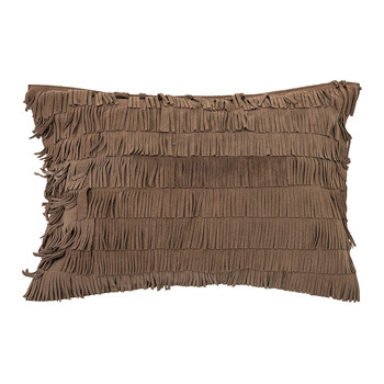 Brown Suede Cushion - 60x40cm
