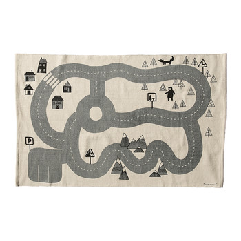 Children's Road Map Cotton Rug
