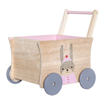 Children's Rose Push Wagon - Bunny