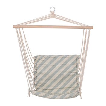 Green Stripe Cotton Hammock Chair
