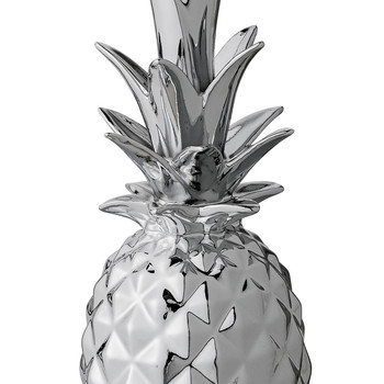 Decorative Pineapple Ornament - Silver