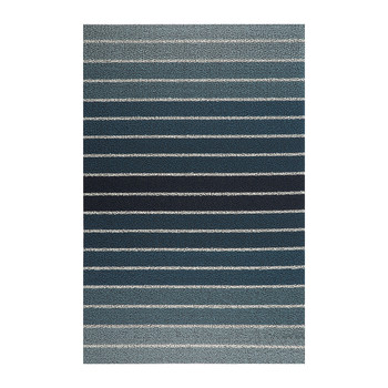 Block Stripe Shag Rug - Denim