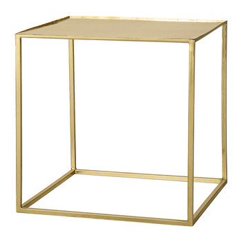 Cube Side Table - Gold