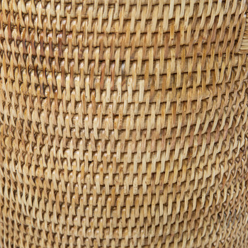 Rattan Trash Basket - Natural