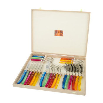 Berlingot Steak Cutlery Set - Rainbow - Set of 24