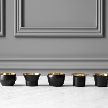 Kin Tealight Holders - Set of 5 - Black