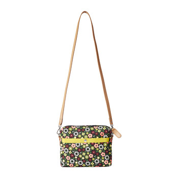 Flower Bloom Canvas Cross-Body Bag - Small