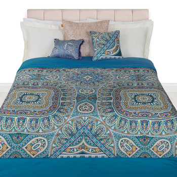 Granada Quilted Bedspread - 270x270cm - Blue