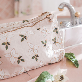 Jasmine Travel Pouch - Rose