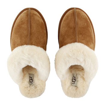 Women's Scuffette Slippers - Chestnut