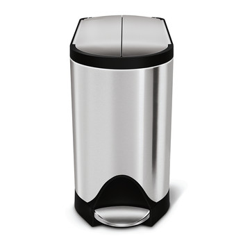 Brushed Steel Butterfly Pedal Bin - 10L