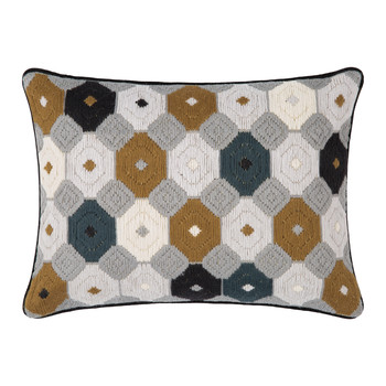 Bargello Chamomile Pillow - 30x40cm - Camel