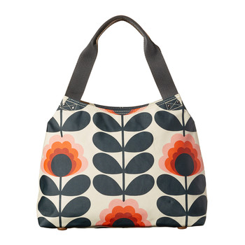 Summer Flower Stem Classic Zip Shoulder Bag - Sunset