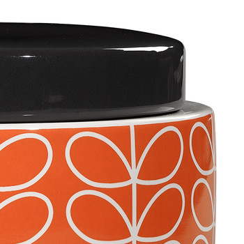 Linear Stem Storage Jar - Persimmon