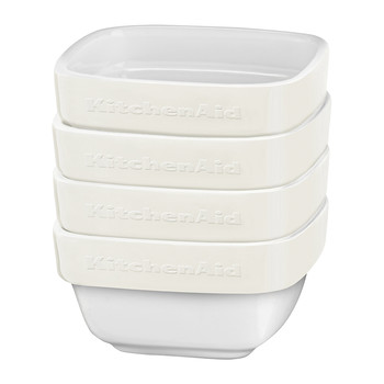 4 Piece Ramekin Set - Almond Cream