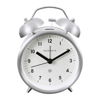 Charlie Bell Alarm Clock - Burnished Steel