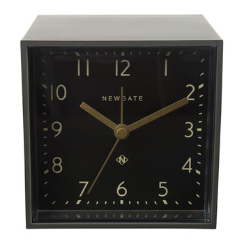 Cubic Alarm Clock - Gravity Gray - Black Dial