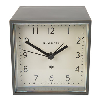 Cubic Alarm Clock - Gravity Grey - White Dial