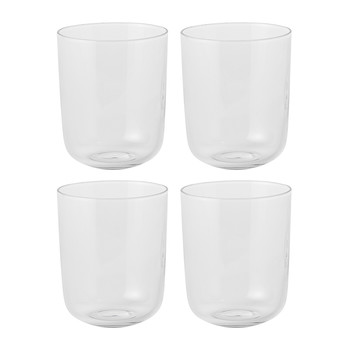 Corky Tall Drinking Glasses - Set of 4 - Clear