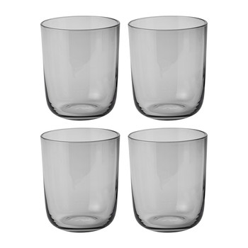 Corky Tall Drinking Glasses - Set of 4 - Grey