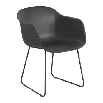 Fiber Armchair - Sled Base - Black