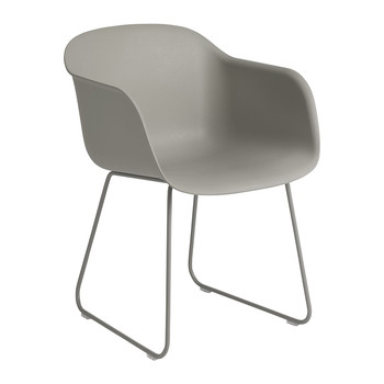 Fiber Armchair - Sled Base - Grey