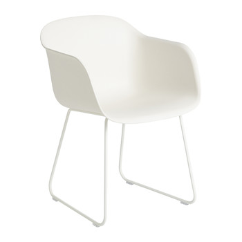 Fiber Armchair - Sled Base - White
