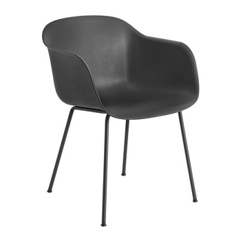 Fiber Armchair - Tube Base - Black